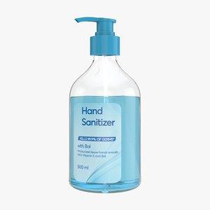 hand sanitizer 3D