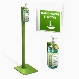 hand sanitizer dispensers 3D