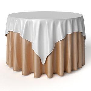 3D model tablecloth oriental restaurant