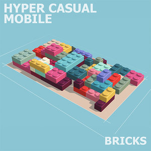 3D hyper casual bricks