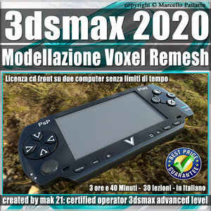 3dsmax 2020 Modellazione Voxel Remesh