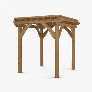 3D pergola structure
