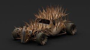 3D mad car model