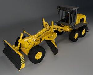 grader tractor 3D model