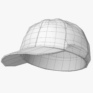 3D cricket cap model