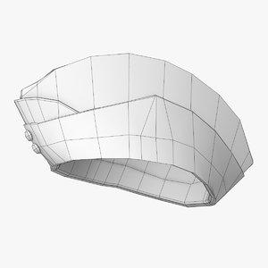 3D glengary hat model