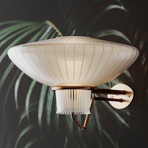 wall lamp erik gunnar 3D model