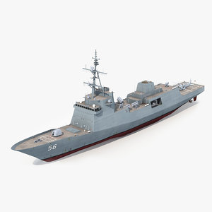 navy frigate ffg x 3D model