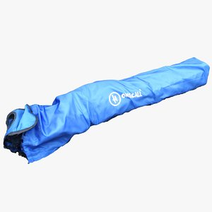 3D bag camping model
