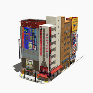 japanese streetscape akihabara 0005 3D model