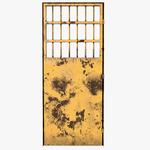 old metal door 3D model
