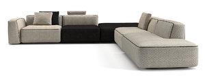 modular sofa angelo cappellini 3D model