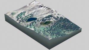 3D mountain desert landscape
