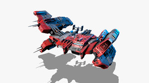 3d sci-fi model