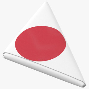 3D flag folded triangle japan model