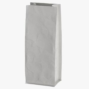 3D flat pouche 500g open