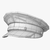 Naval Hat Lowpoly