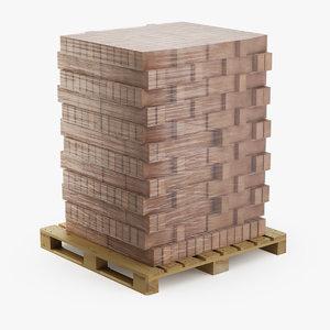 3D pallet bricks model