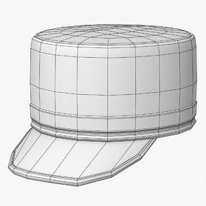 pillbox kepi hat 3D