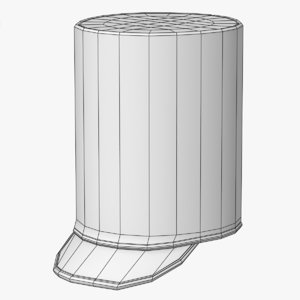 pillbox marching hat 3D model