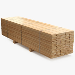 pallet pine timber model
