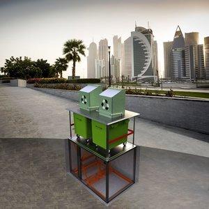 underground waste bin container model