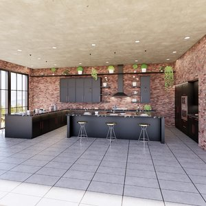 create kitchen revit parametric 3D model