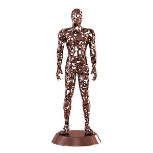 men metal figurine 3D model