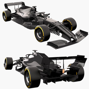 3D f1 race car