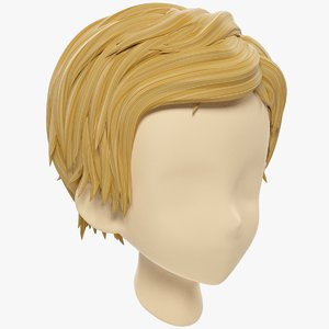 stylized hair mannequin 3D model