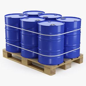 pallet barrels 3D model