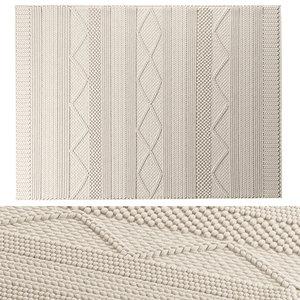 3D benuta wool rug alva