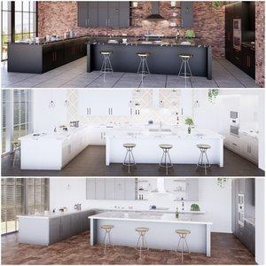 3D create kitchen revit parametric model
