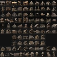 BIGGEST AAA HOUSES BUILDER PACK COLLECTION VIKING ORC PRIMAL