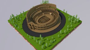 3D italy rome colosseum