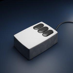 3D xerox alto computer mouse
