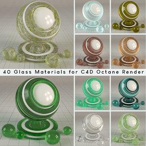 glass shaders octane render materials 3D model