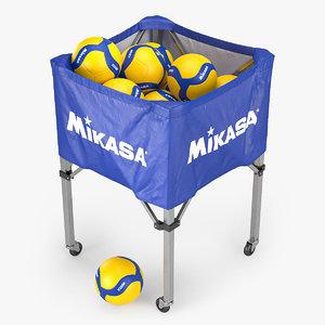mikasa volleyball cart 3D