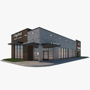3D model coffee shop