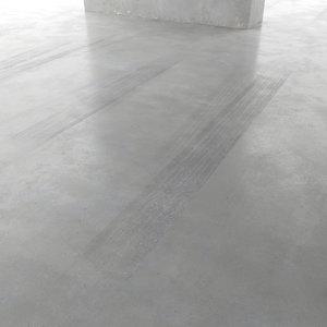 3D parking concrete floor model