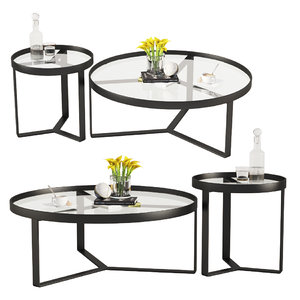 3D model aula coffee table black
