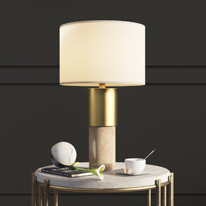 john lewis akani table lamp 3D model