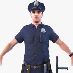 3D model police officer 2020 pbr
