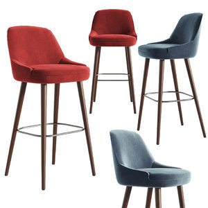 3D 375 walter knoll bar stool model