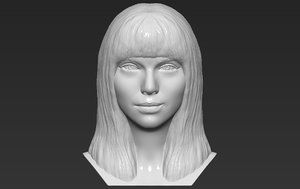 taylor swift bust printing 3D model