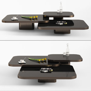 bow coffee tables classicon 3D model