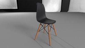 mio tesoro bari chair wood 3D