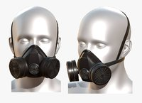 Gas mask protection futuristic technology