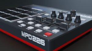 3D model akai professional mpd226 modelled