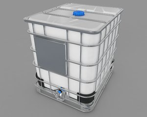 3D model water tank industrial